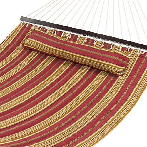 Best Choice Products® Hammock Quilted Fabric With Pillow Double Size Spreader Bar Heavy Duty Stylish (Hammock Without Stand compare prices)