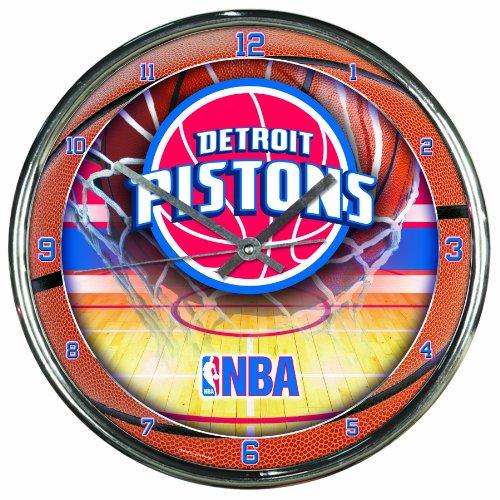 NBA Detroit Pistons Chrome Clock