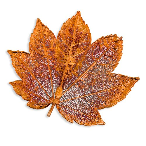 Iridescent Copper Dipped Full Moon Maple Leaf Pin