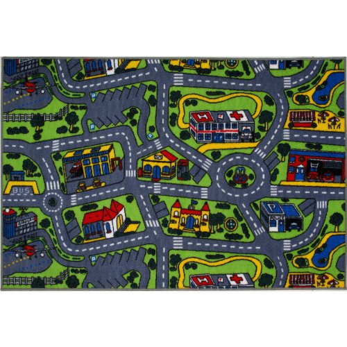 Driving Time City Street Area Rug 8'x11'