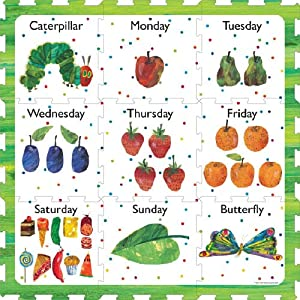 Amazon.com: The Very Hungry Caterpillar Days of the Week Play Mat
