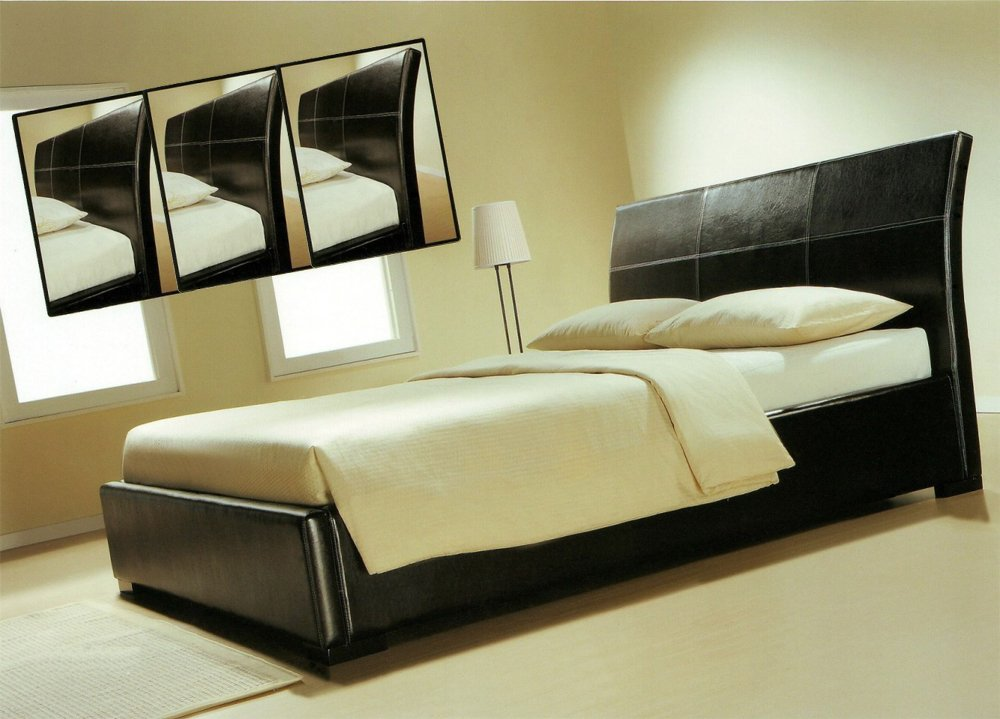 Leder Betten Bettrahmen modernes Lederbett