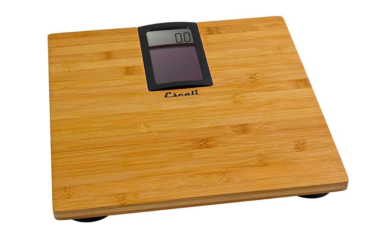 Escali ECO180 Solar Powered Natural Bamboo Digital Bath Scale