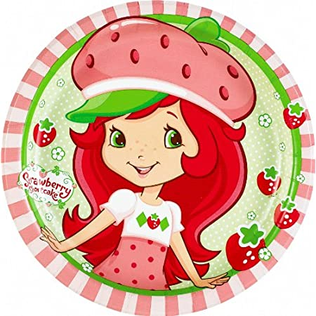 These Strawberry Shortcake Dessert Plates feature a vibrant design with Strawberry Shortcake, berries and flowers in pink, green, red and white. Each package includes eight - 7 inch diameter paper plates that are perfect for serving cake and ice crea...
