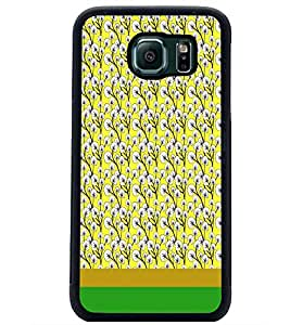 PrintDhaba Floral Pattern D-1885 Back Case Cover for SAMSUNG GALAXY S6 (Multi-Coloured)