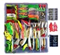 Smartonly 275pcs Fishing Lure Set Including Frog Lures Soft Fishing Lure Hard Metal Lure VIB Rattle Crank Popper Minnow Pencil Metal Jig Hook for Trout Bass Salmon with Free Tackle Box by Smartonly