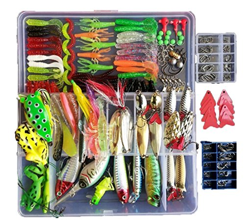 Smartonly-275pcs-Fishing-Lure-Set-Including-Frog-Lures-Soft-Fishing-Lure-Hard-Metal-Lure-VIB-Rattle-Crank-Popper-Minnow-Pencil-Metal-Jig-Hook-for-Trout-Bass-Salmon-with-Free-Tackle-Box