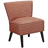 Dorel Living Kinsley Armless Upholstered Accent Chair, Red/White