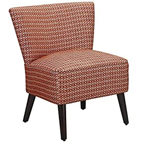 Dorel Living Kinsley Armless Upholstered Accent Chair Red White