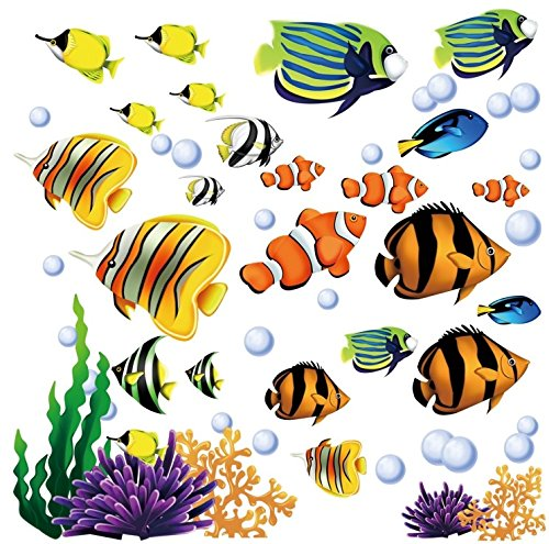 Under the Sea Decorative Peel and Stick Wall Art Sticker Decals (Wall Stickers Decals compare prices)