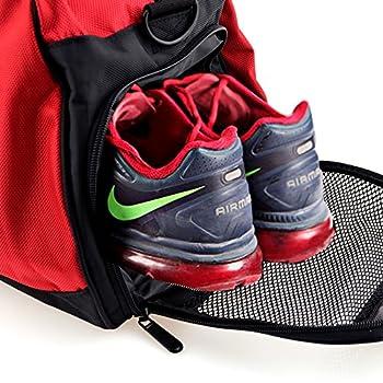 BESTEK® Gym Bag Sports Bag Shoulder Duffle Bag Handle Bag Short Travel Luggage Bag with Separate Shoes Compartment 2