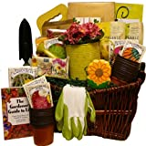The Gourmet Gardener Gift Gift Basket of Useful Garden Tools and Treats
