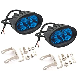 Ourbest Blue 20W Cree LED Forklift Lights 12V 24V Warning Work Warehouse Lights SpotLight For Fork Truck Security Indicator Led Forklift Safety Light 2Pcs