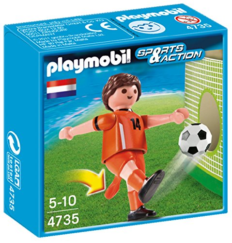 PLAYMOBIL Netherlands Soccer Player Toy - 1