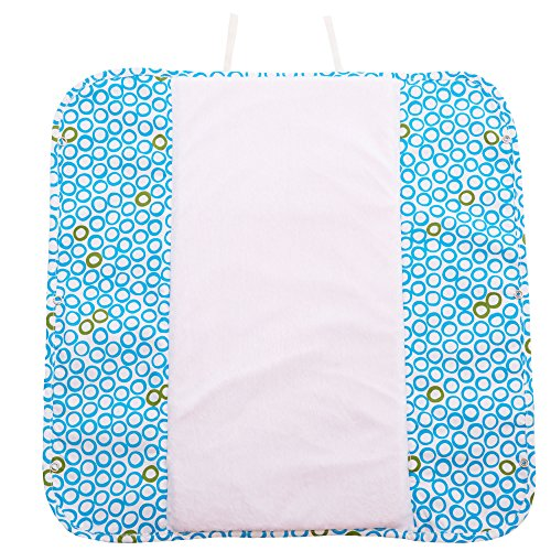 Ah Goo Baby Plush Pad Portable Travel Changing Pad with Memory Foam, Bubbles in Water Pattern