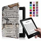 Fintie Kindle Voyage 6 インチ ケース 最も薄く、最軽量の保護 高品質PU レザー カバー マグネット機能搭載 【Kindle Voyage専用】(柄×マップ)