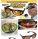 CPEX 2 HD Vision Wraparounds Sunglasses and Night Vision Glasses Combo Pack