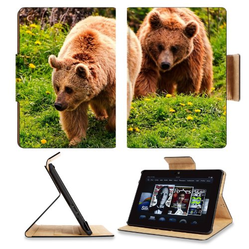 Bears Timber Couple Walking Flowers Summer Amazon Kindle Fire Hdx 7 [2013 Version Only] Flip Case Stand Magnetic Cover Open Ports Customized Made To Order Support Ready Premium Deluxe Pu Leather 7 11/16 Inch (195Mm) X 5 11/16 Inch (145Mm) X 11/16 Inch (17 front-952470