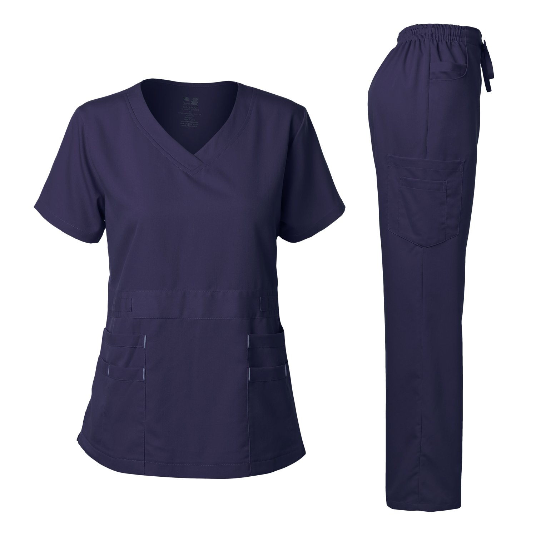 Dagacci Medical Uniform Women's Scrubs Set Stretch Ultra Soft Top and Pants aamir al mosawi medical journals editorship and medical editing