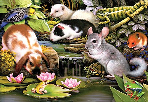 Poolside Pets a 100-Piece Jigsaw Puzzle by Sunsout Inc.