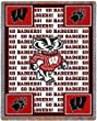 Univ of Wisconsin Go Badgers - 69 x 48 Blanket/Throw - Wisconsin Badgers