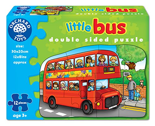 Orchard Toys - Little Bus Double Sided 12 Piece Puzzle