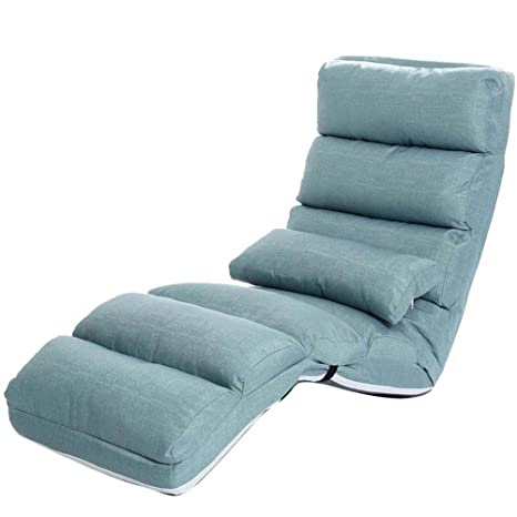 Sofá perezoso Sofá plegable Sofá plegable Sillón sofá simple Sofá cama Sofá multifunción sofá cama Sofá pequeño balcón , blue , S