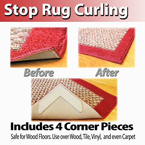 Nevercurl Instantly Stops Rug Corner Curling Safe For