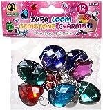 D.I.Y. Do it Yourself Bracelet Zupa Loomi Bandz Bracelet Charm 12-Pack [Gemstones]