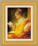 本を読む少女 ジャン・オノレ・フラゴナール(F6号)【送料無料】