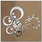 Circle Mirror Removable Decal Vinyl Art Wall Sticker Home Decor Clock Dial