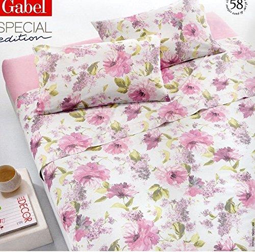 Lenzuola matrimoniale GABEL completo letto lenzuolo 2 piazze giardino