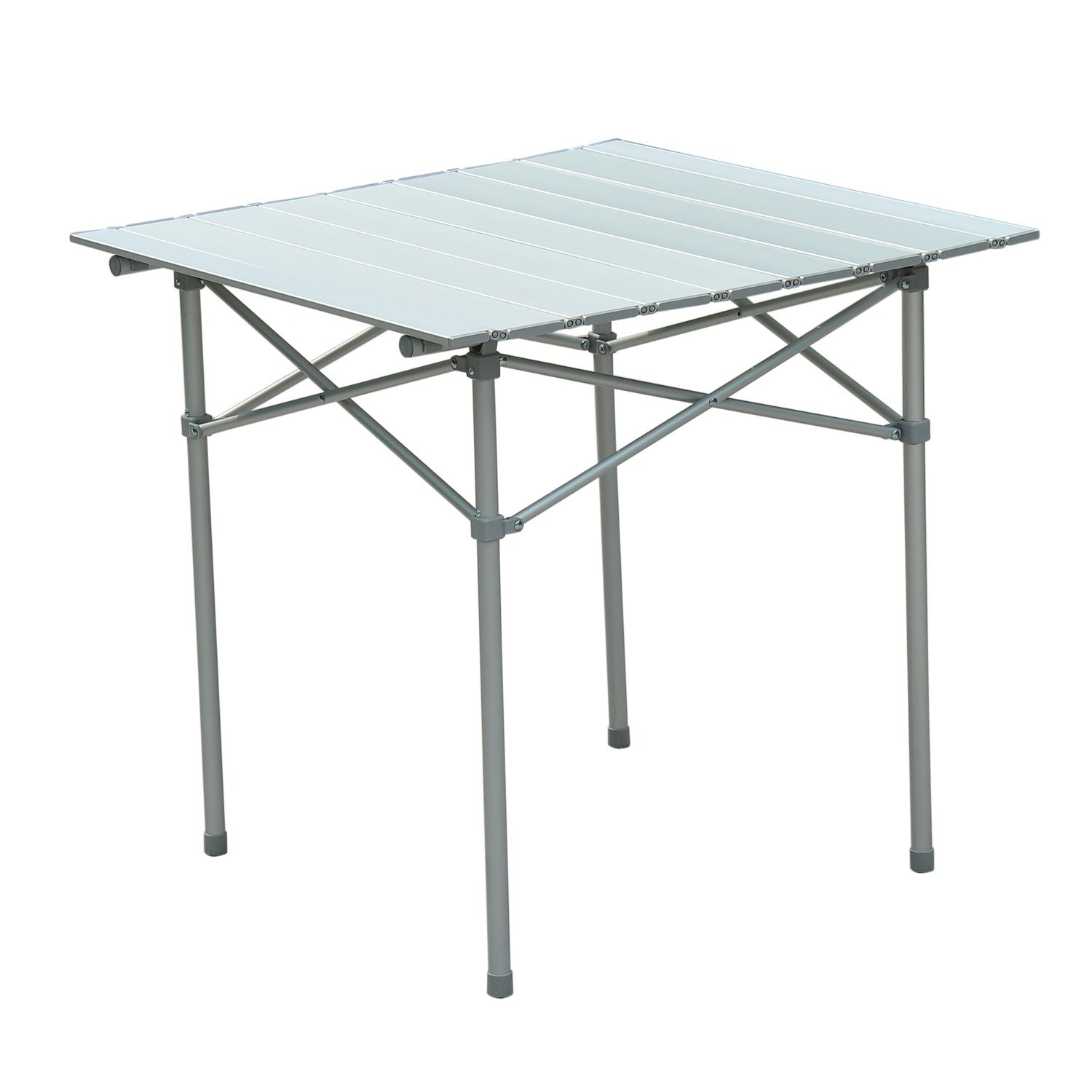 "Outsunny Roll Up Top Aluminum Camp Portable Camping Picnic Table w/ Carrying Bag - 28"" x 28"" - Silver at Sears.com"