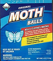 8 Pk, Original Moth Balls, 4 oz Each by IMS
