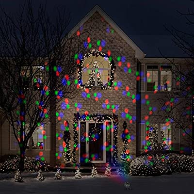 Lightshow Projector Motion and Static 12 Color Combination 98 Effects Outdoor Indoor Holiday Spot