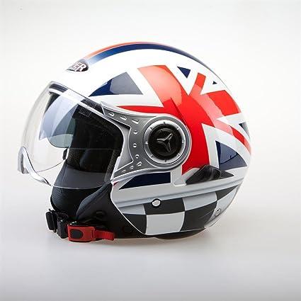 Casque de moto Viper RSV18 Face ouverte Union Jack