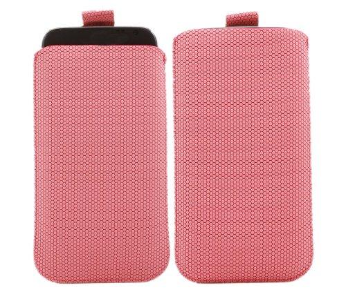 iTALKonline ROSA HEX PATTERN Qualität Rutsch Pouch Case Schutzhülle mit Pull Tab für Nokia Lumia 610