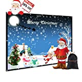 120 inch Portable Projector Screen with Bag, GBTIGER 120