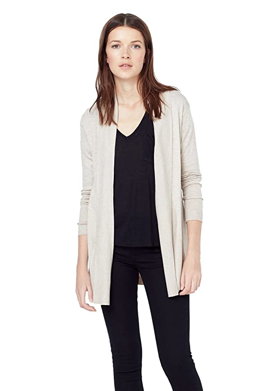 Mango Women's Ribbed Lapel Cardigan