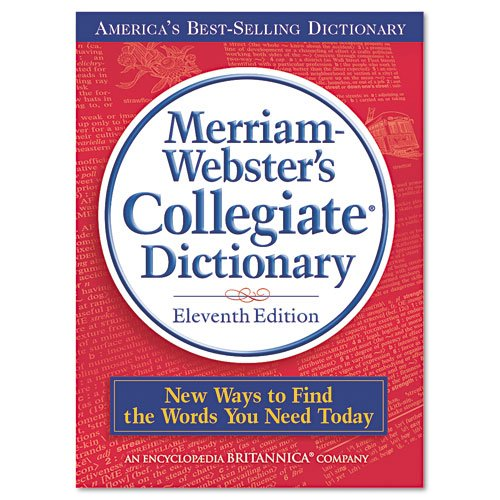 Merriam Webster Products - Merriam Webster - Collegiate Dictionary, 11th Edition, Hardcover, 1664 Pages - Sold As 1 Each - Fully revised print content. - Features more than 225,000 definitions, 700 illustrations and more than 10,000 new words. - Includes
