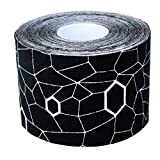 Theraband Kinesiology Tape Standard Roll, Black / White Print, 2 Inch X 16.4 Feet