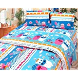 Cosmosgalaxy Cotton Double Bedsheet With Pillow Covers - Queen Size, Multicolor - B00SWKO3YY