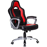Cherry Tree Furniture Racing Sport Swivel Desk Chair (Black & Red)