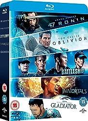 Oblivion / Battleship / Immortals / Gladiator / 47 Ronin [Blu-ray] [2010] [Region Free]