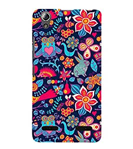 Red floral pattern Back Case Cover for Lenovo A6000 Plus