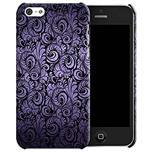 Theskinmantra Purple flow back cover for Apple iPhone 5C