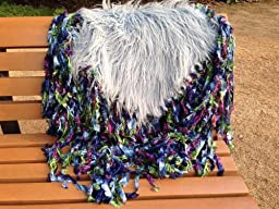 Newborn baby infant photography prop handmade Fringed blanket tassel rug carpet TZ03