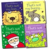 Various That's not my collection 4 Books Set Pack RRP: £ 23.96 (That's not my Lion, That's not my bunny, That's not my santa, That's not my monster) (That's not my collection)