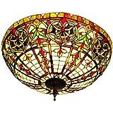 Tiffany Style Ceiling Lamp, Chandelier -Big Oriental-