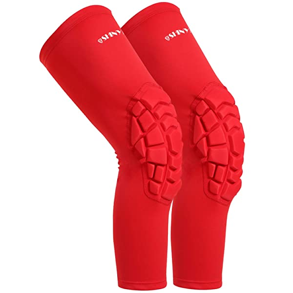 Perfect for Basketball Baseball Volleyball Protection Gear for Team Sports ShinyPro Compression Leg Sleeves Knee Pads for Men Women